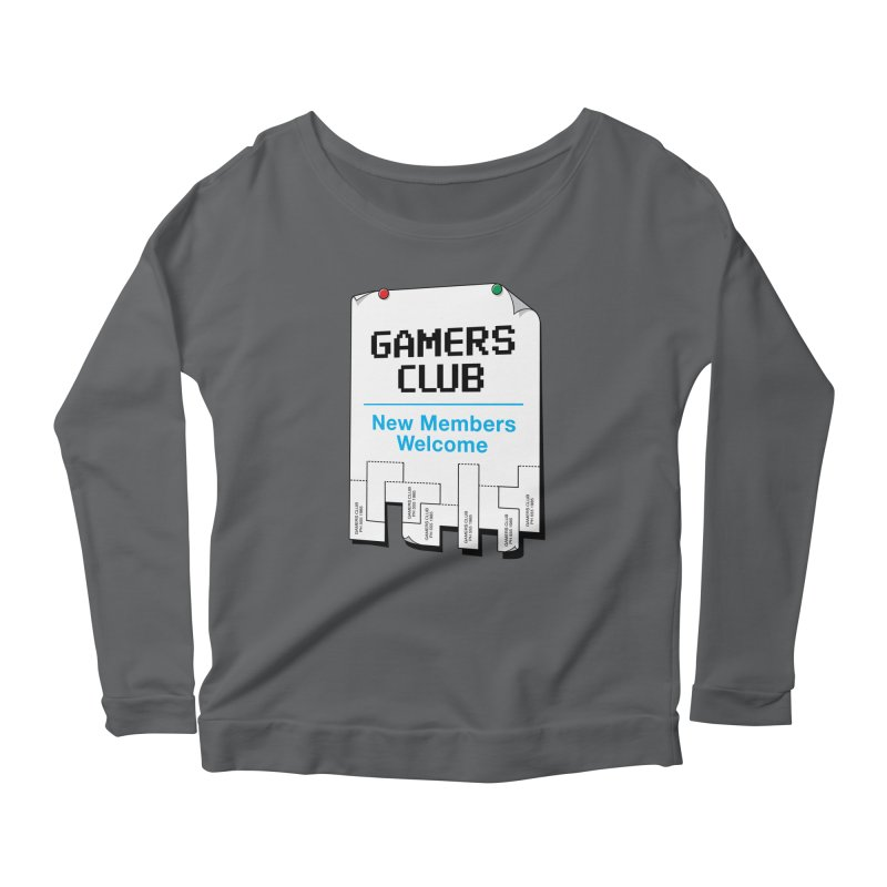 Gamer's Club Women's Longsleeve Scoopneck  by glennz's Artist Shop