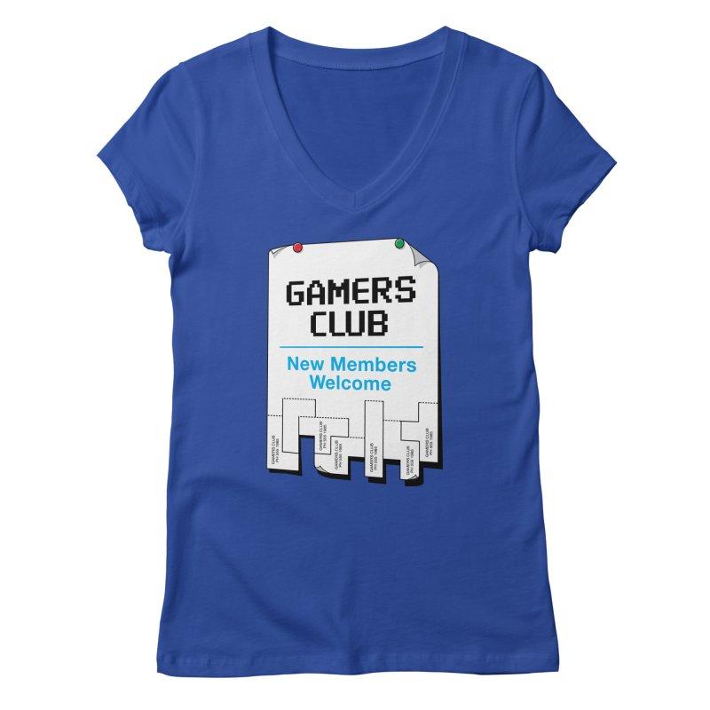 Gamer's Club Women's Regular V-Neck by glennz's Artist Shop