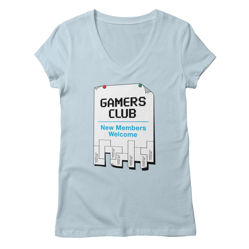 Gamer's Club Women's V-Neck by glennz's Artist Shop