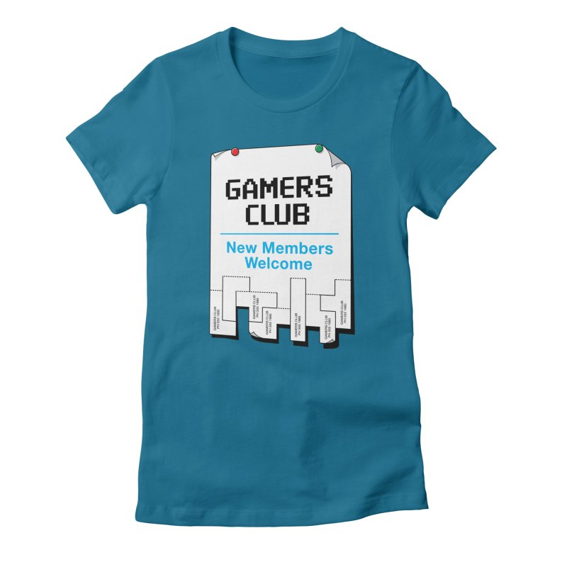 Gamer's Club Women's Fitted T-Shirt by glennz's Artist Shop