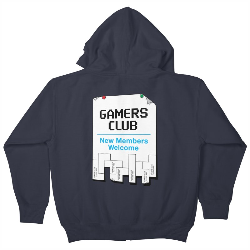 Gamer's Club Kids Zip-Up Hoody by glennz's Artist Shop