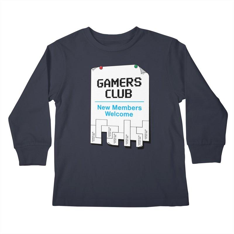 Gamer's Club Kids Longsleeve T-Shirt by glennz's Artist Shop