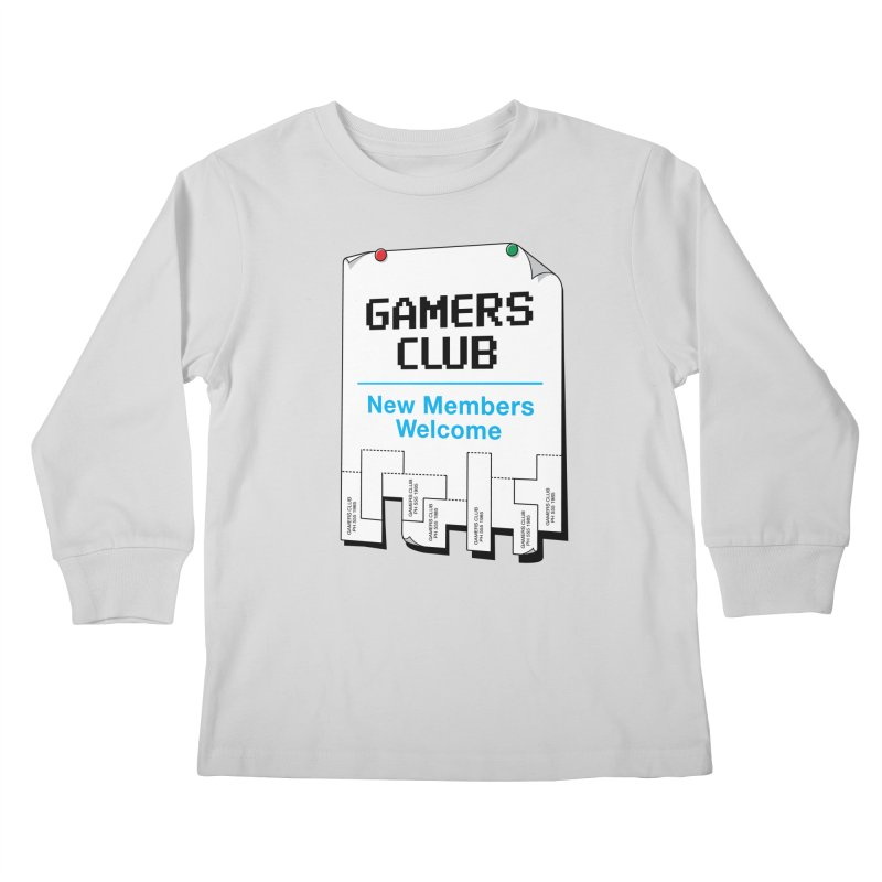 Gamer's Club Kids Longsleeve T-Shirt by glennz's Artist Shop