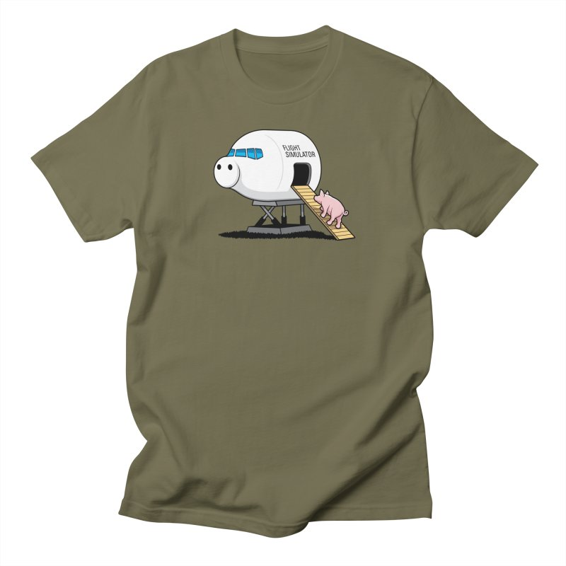 Learning to Fly Men's T-shirt by glennz's Artist Shop