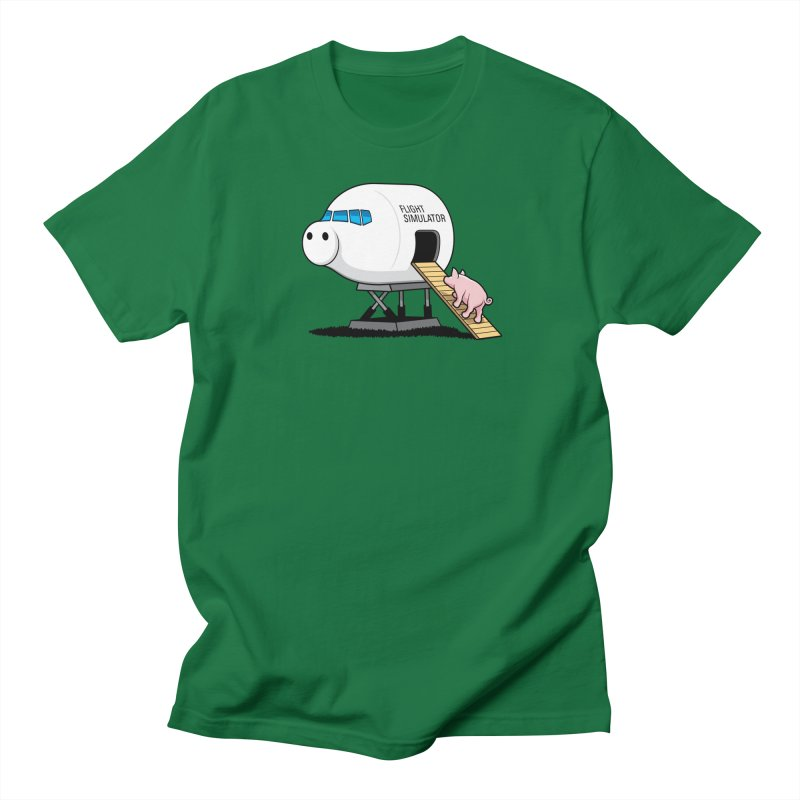 Learning to Fly in Men's T-shirt Kelly Green by glennz's Artist Shop
