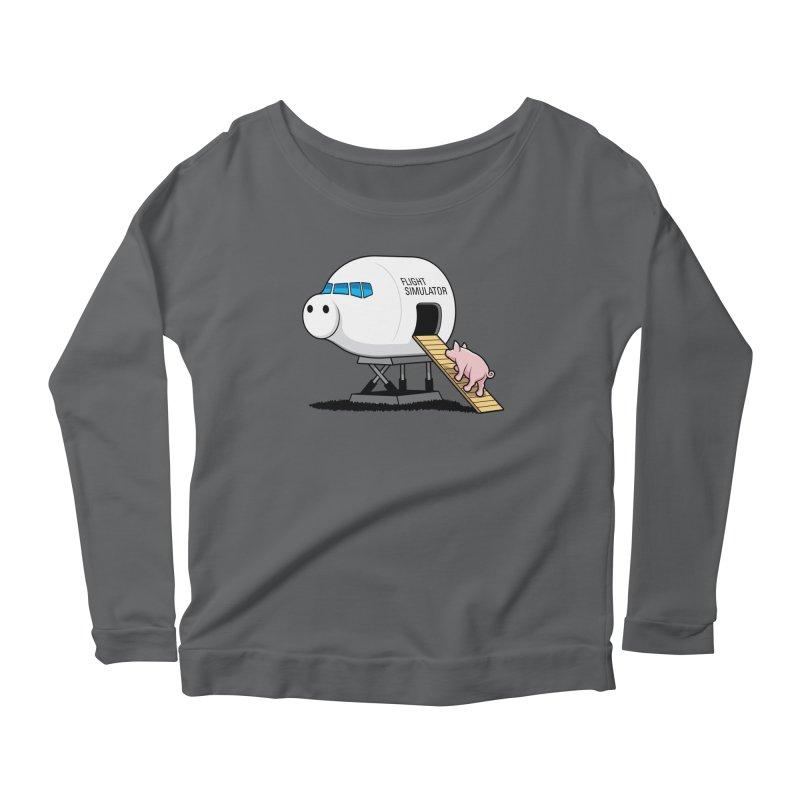 Learning to Fly Women's Scoop Neck Longsleeve T-Shirt by glennz's Artist Shop