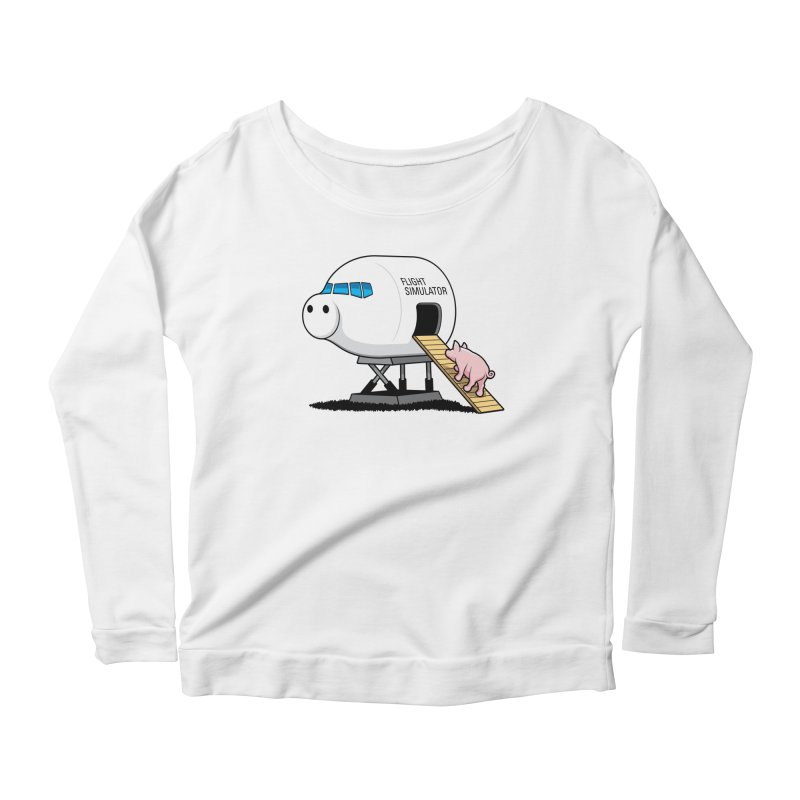 Learning to Fly Women's Longsleeve Scoopneck  by glennz's Artist Shop