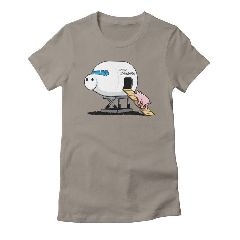 Learning to Fly Women's Fitted T-Shirt by glennz's Artist Shop
