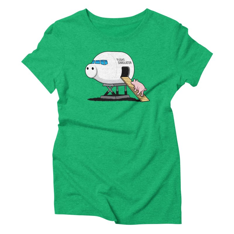 Learning to Fly Women's Triblend T-shirt by glennz's Artist Shop