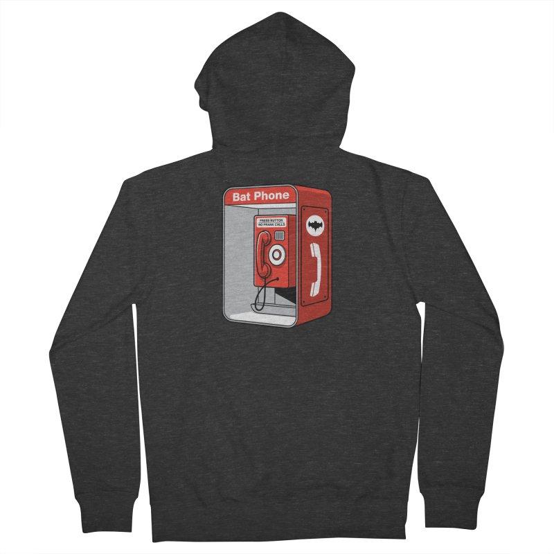 Public Bat Phone Men's Zip-Up Hoody by glennz's Artist Shop
