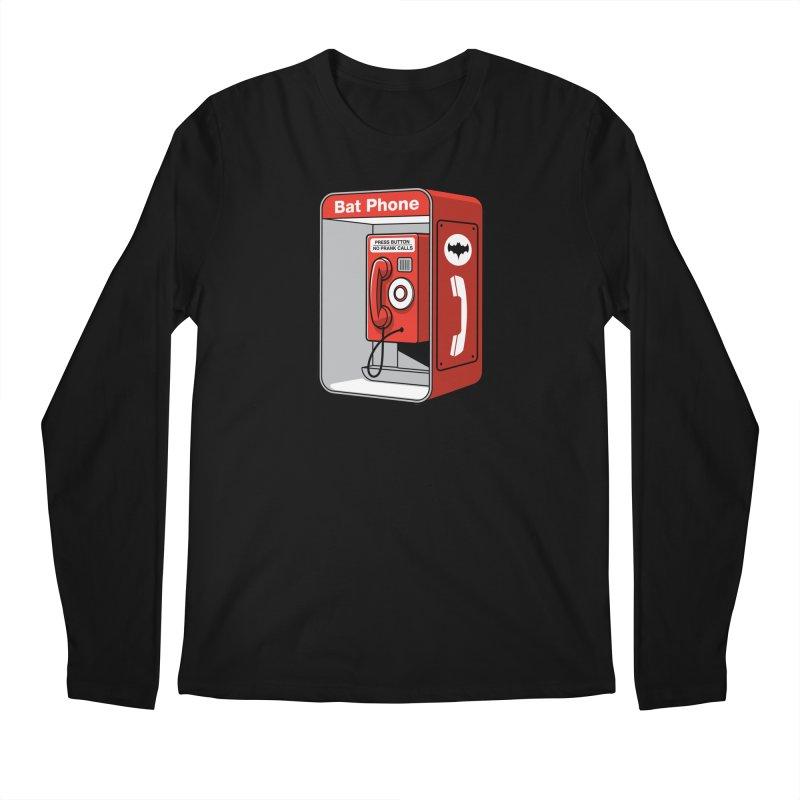 Public Bat Phone Men's Regular Longsleeve T-Shirt by glennz's Artist Shop