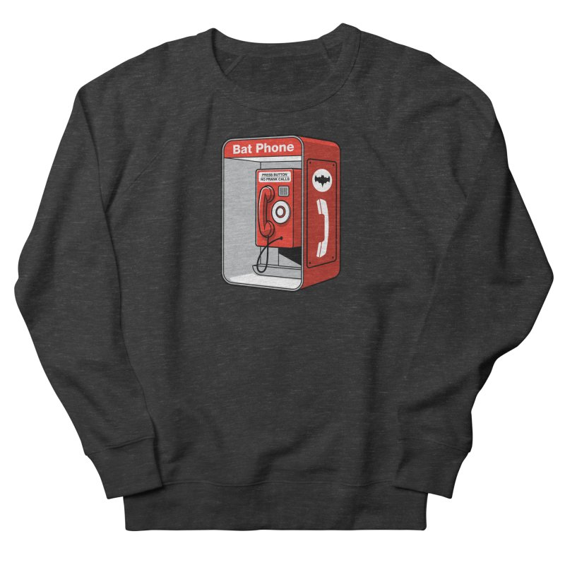 Public Bat Phone Men's French Terry Sweatshirt by glennz's Artist Shop