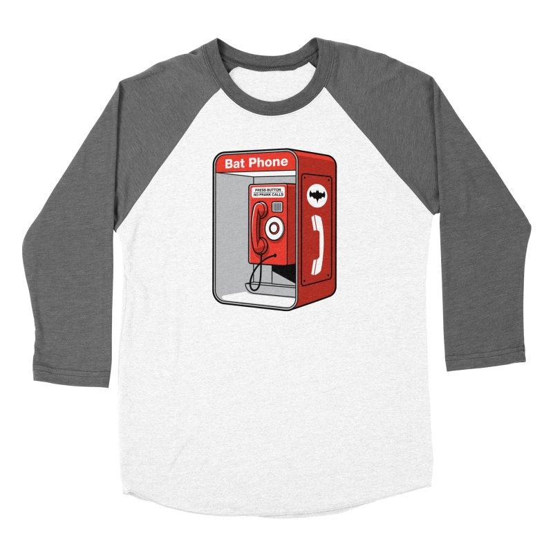 Public Bat Phone Men's Baseball Triblend T-Shirt by glennz's Artist Shop