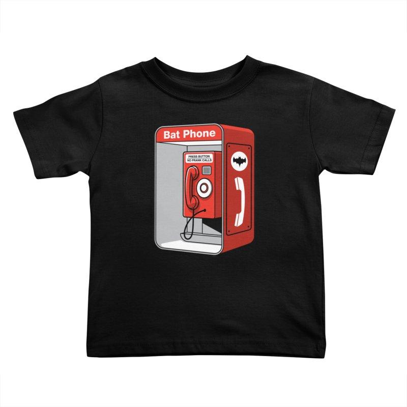 Public Bat Phone Kids Toddler T-Shirt by glennz's Artist Shop