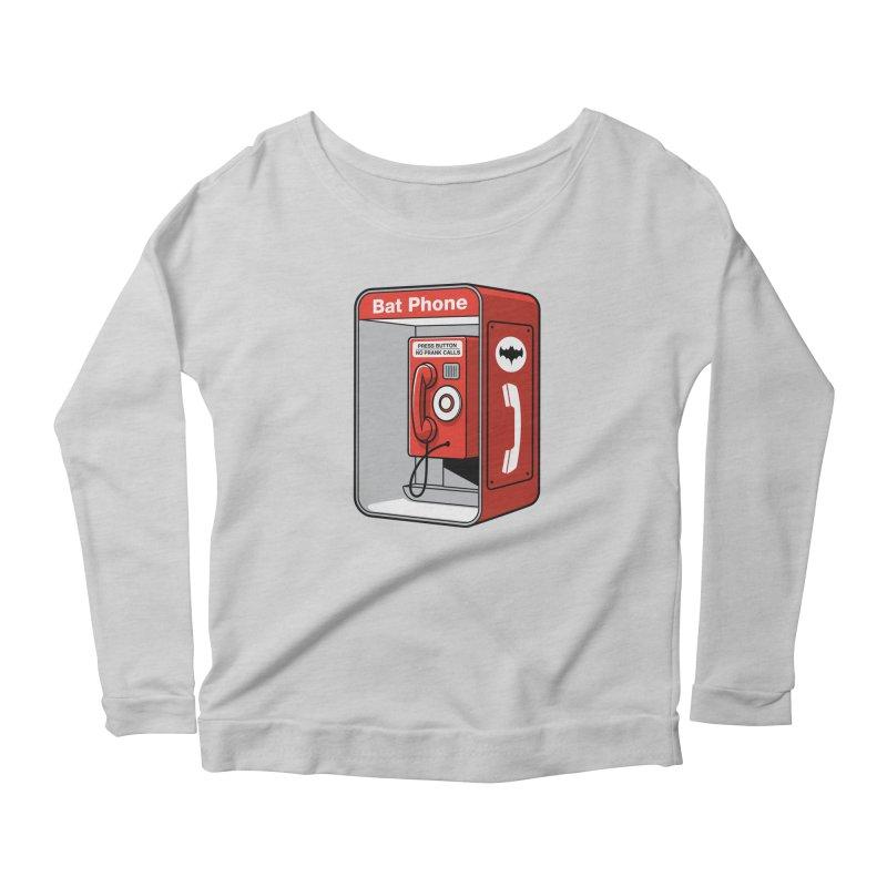 Public Bat Phone Women's Scoop Neck Longsleeve T-Shirt by glennz's Artist Shop