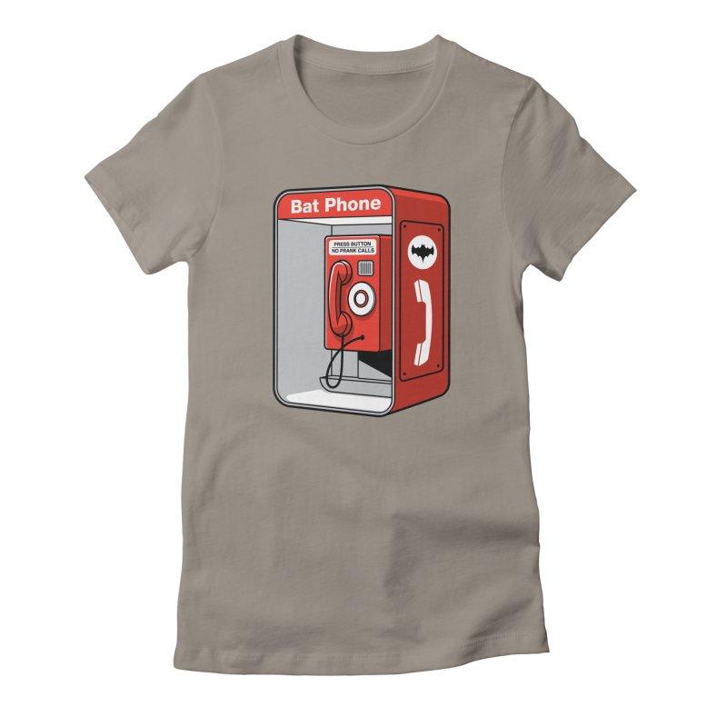 Public Bat Phone Women's Fitted T-Shirt by glennz's Artist Shop