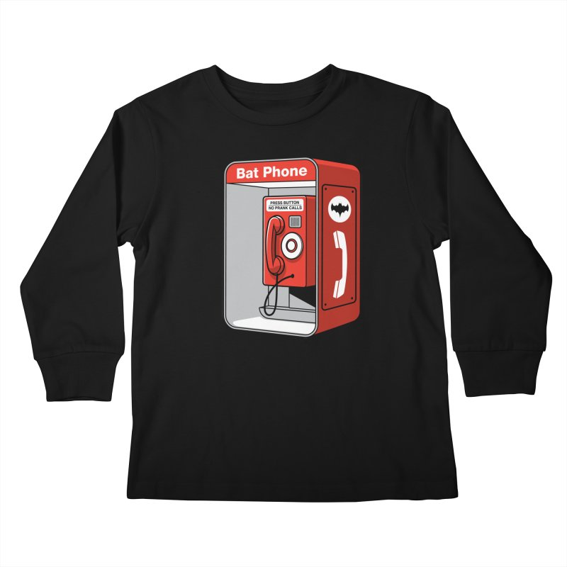 Public Bat Phone Kids Longsleeve T-Shirt by glennz's Artist Shop