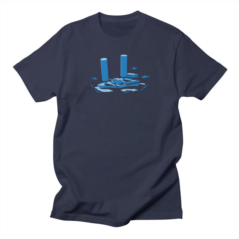Sunk in Men's T-shirt Navy by glennz's Artist Shop