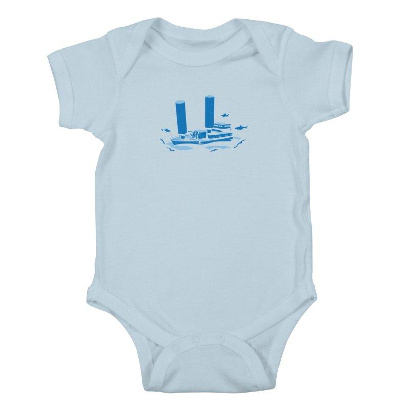 Sunk Kids Baby Bodysuit by glennz's Artist Shop