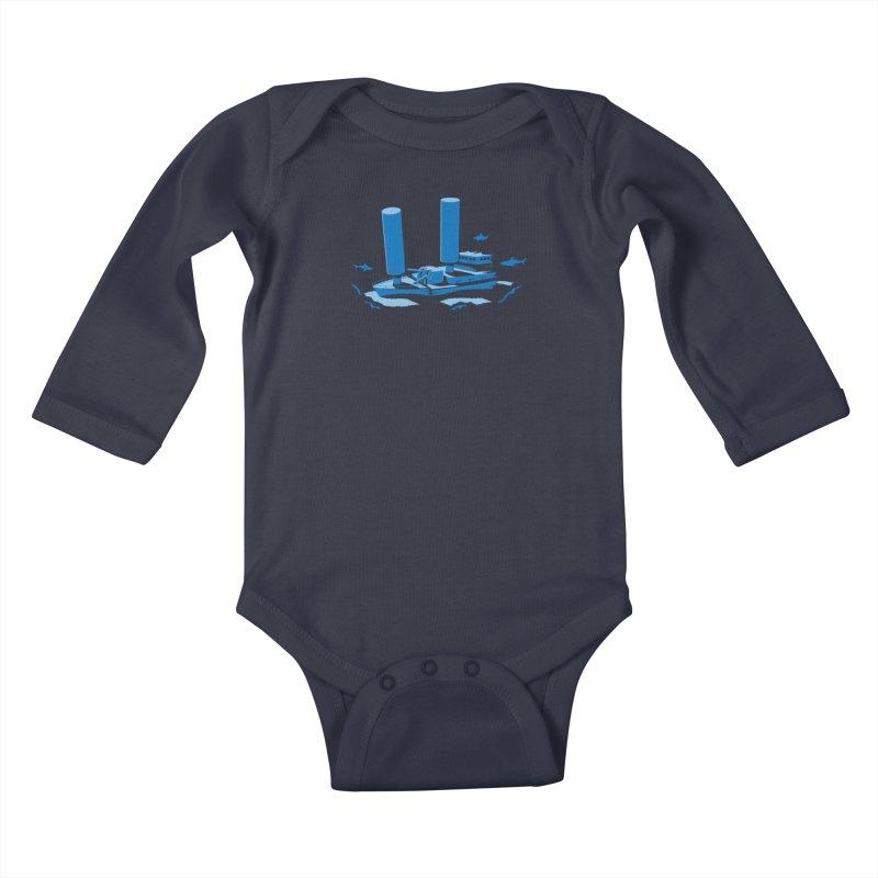Sunk Kids Baby Longsleeve Bodysuit by glennz's Artist Shop