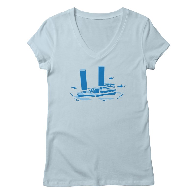 Sunk Women's V-Neck by glennz's Artist Shop