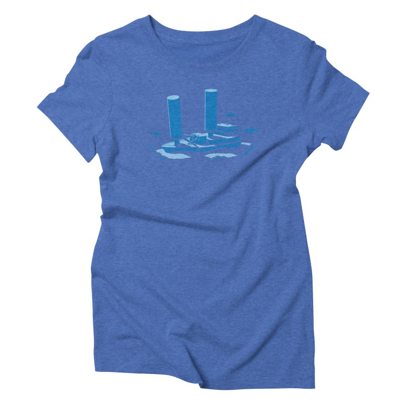 Sunk Women's Triblend T-Shirt by glennz's Artist Shop