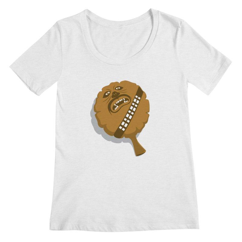 Wookie Cushion Women's Scoopneck by glennz's Artist Shop