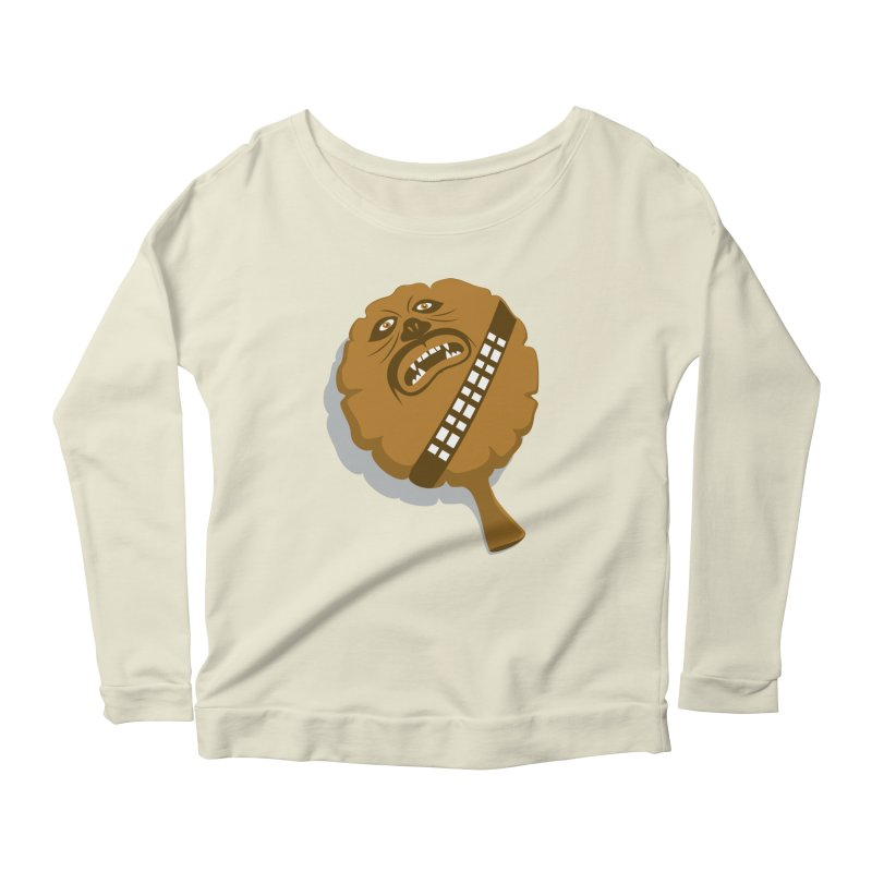 Wookie Cushion Women's Longsleeve Scoopneck  by glennz's Artist Shop
