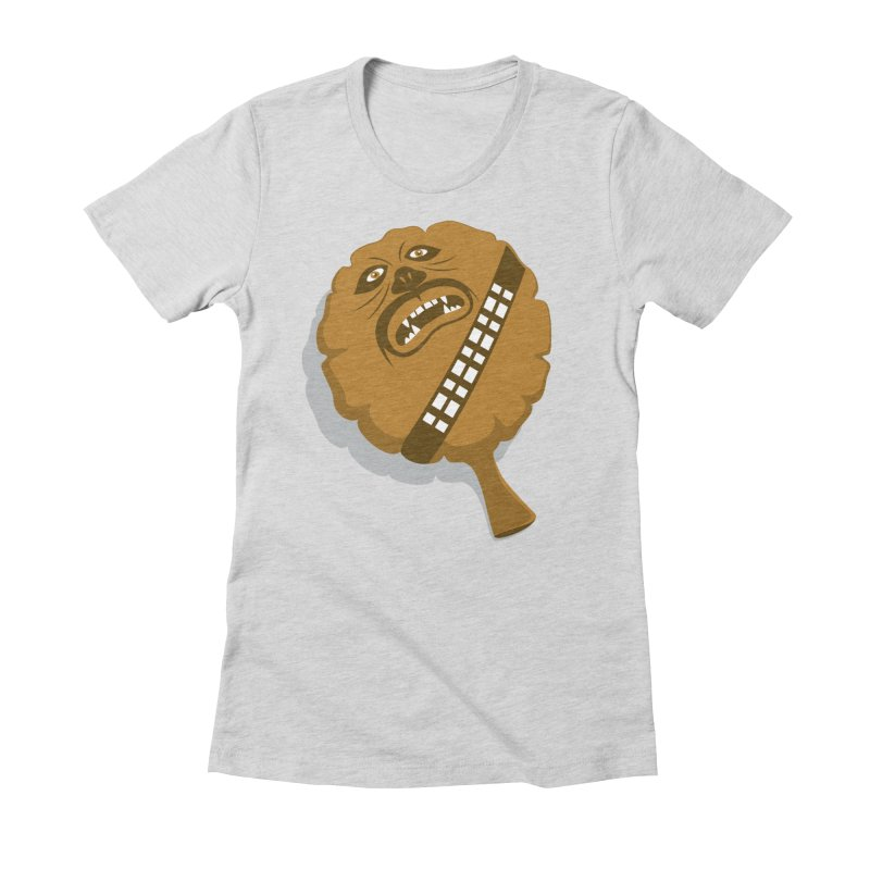 Wookie Cushion Women's Fitted T-Shirt by glennz's Artist Shop