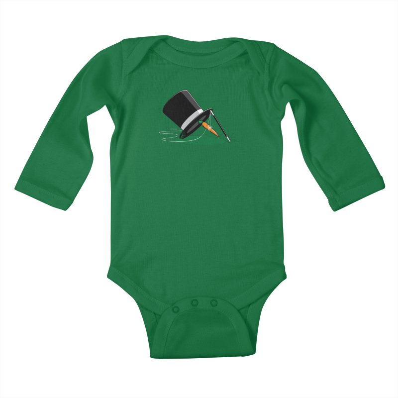 Works Like Magic Kids Baby Longsleeve Bodysuit by glennz's Artist Shop