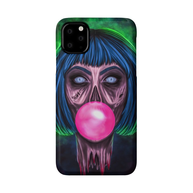 Zombie Bubblegum Accessories Phone Case by The Glitchway