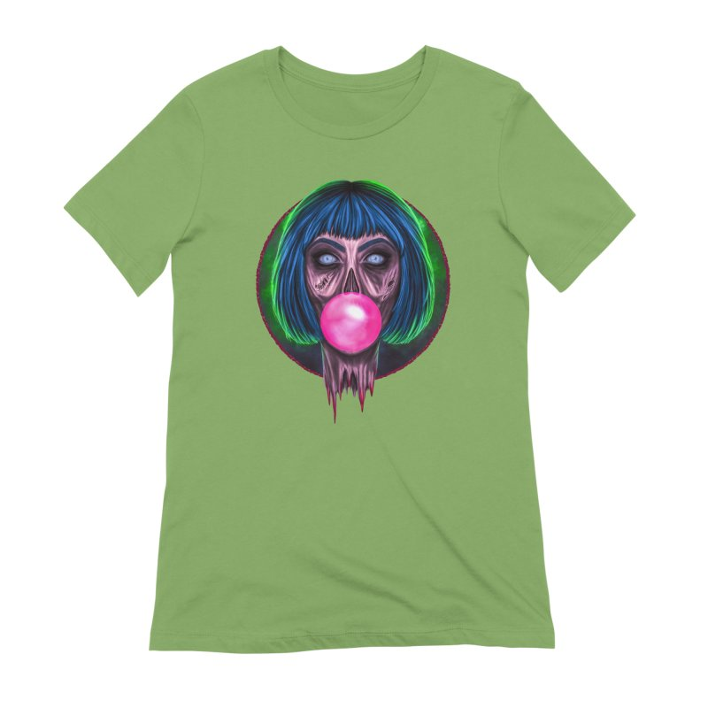 Zombie Bubblegum Women's Extra Soft T-Shirt by The Glitchway