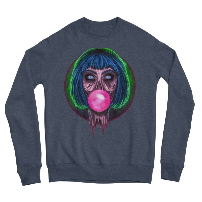 Zombie Bubblegum Men's Sponge Fleece Sweatshirt by The Glitchway