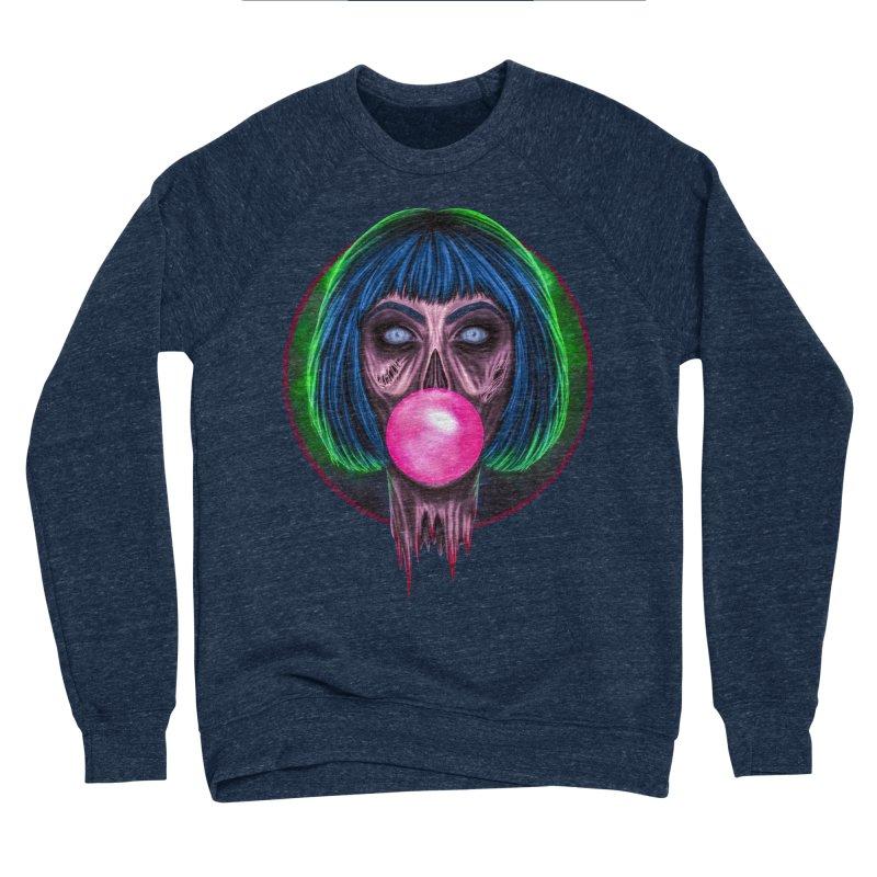 Zombie Bubblegum Women's Sponge Fleece Sweatshirt by The Glitchway