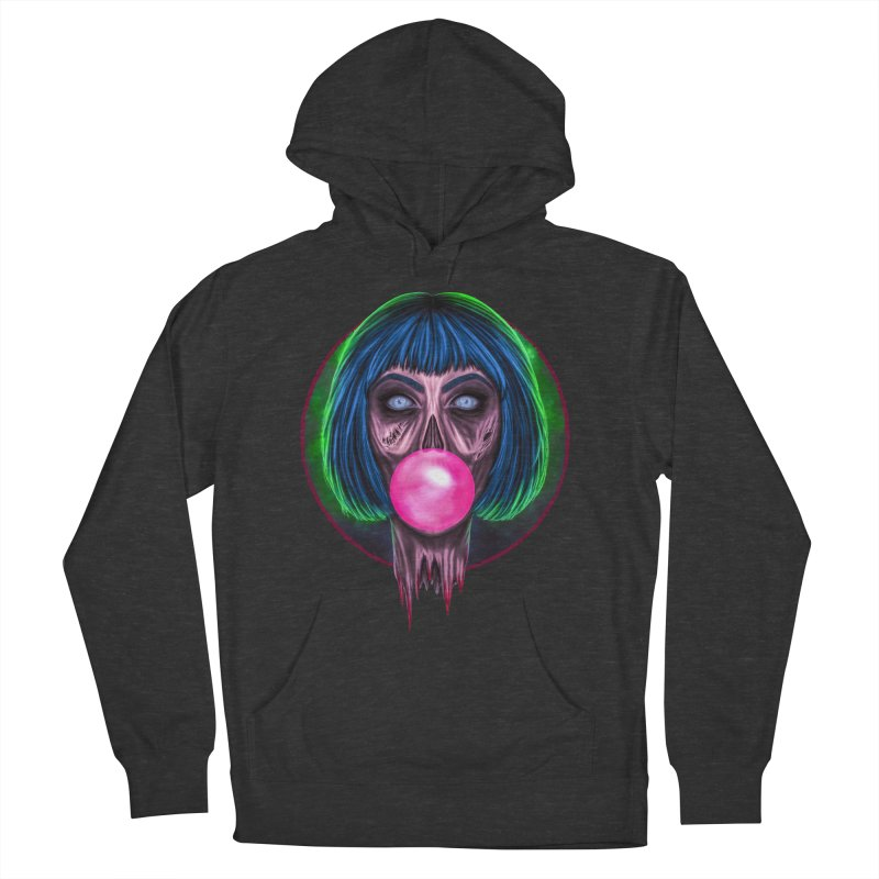 Zombie Bubblegum Women's French Terry Pullover Hoody by The Glitchway