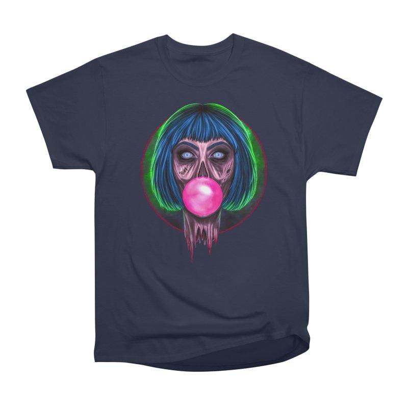 Zombie Bubblegum Women's Heavyweight Unisex T-Shirt by The Glitchway