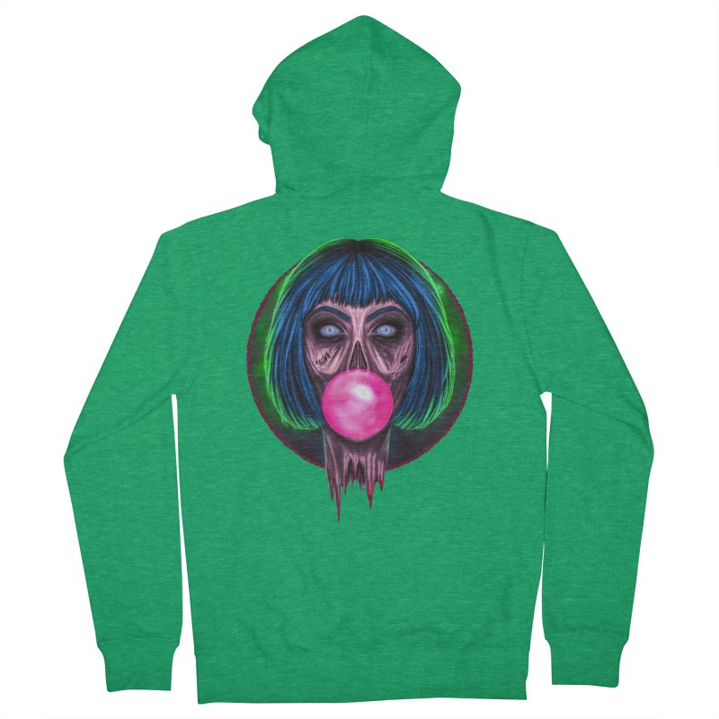 Zombie Bubblegum Women's Zip-Up Hoody by The Glitchway