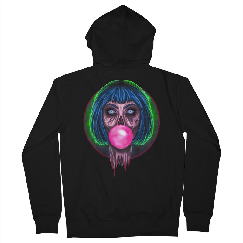 Zombie Bubblegum Women's French Terry Zip-Up Hoody by The Glitchway