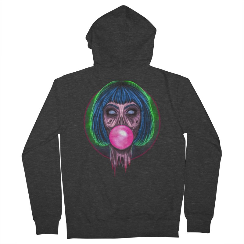 Zombie Bubblegum Men's French Terry Zip-Up Hoody by The Glitchway