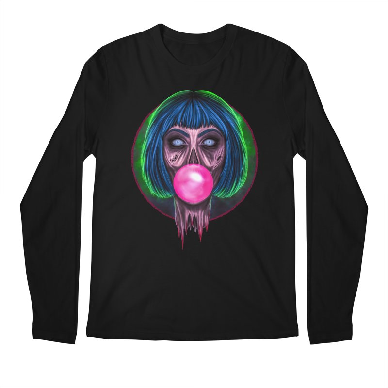Zombie Bubblegum Men's Regular Longsleeve T-Shirt by The Glitchway