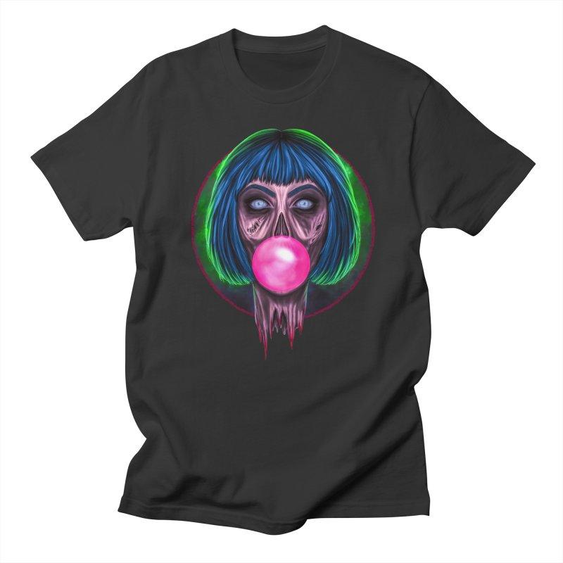 Zombie Bubblegum Men's Regular T-Shirt by The Glitchway