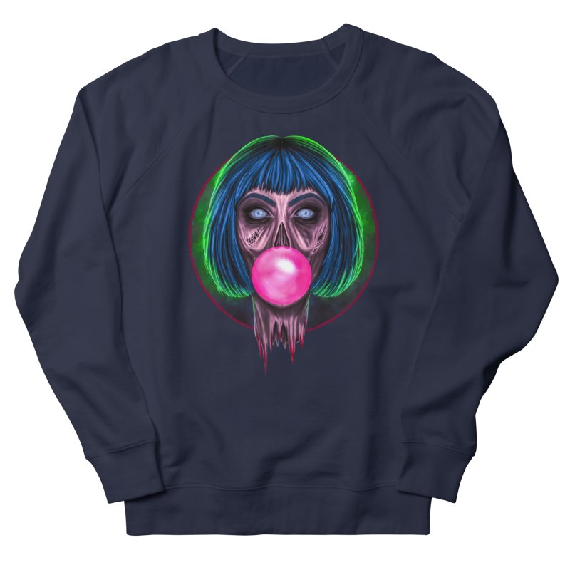 Zombie Bubblegum Women's French Terry Sweatshirt by The Glitchway