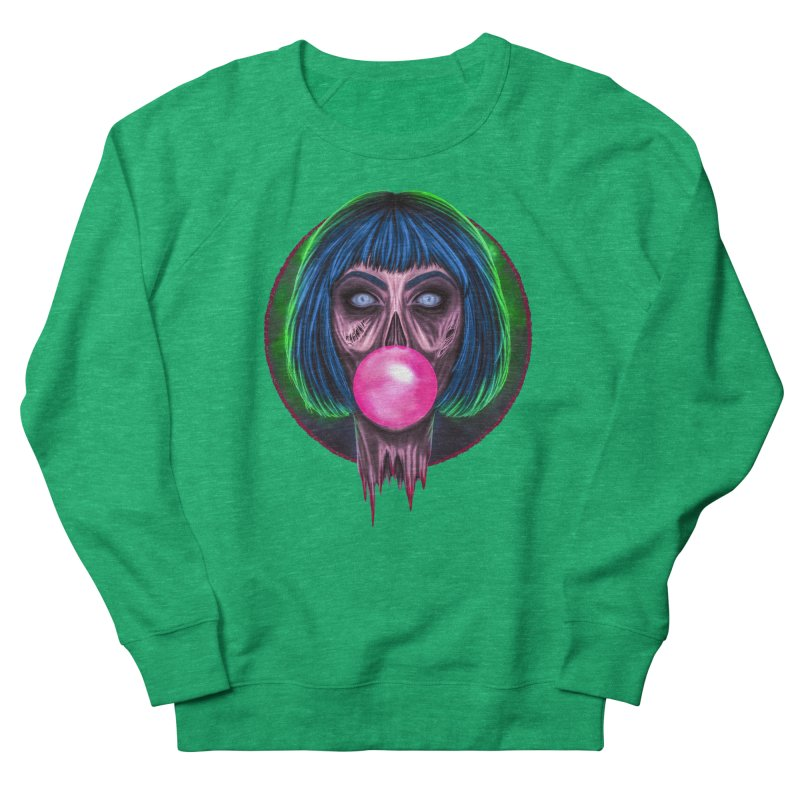 Zombie Bubblegum Men's French Terry Sweatshirt by The Glitchway