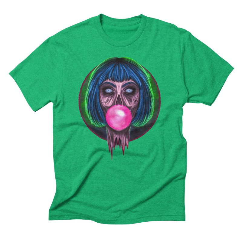 Zombie Bubblegum Men's Triblend T-Shirt by The Glitchway