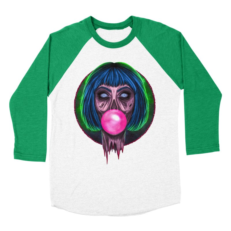 Zombie Bubblegum Women's Baseball Triblend Longsleeve T-Shirt by The Glitchway