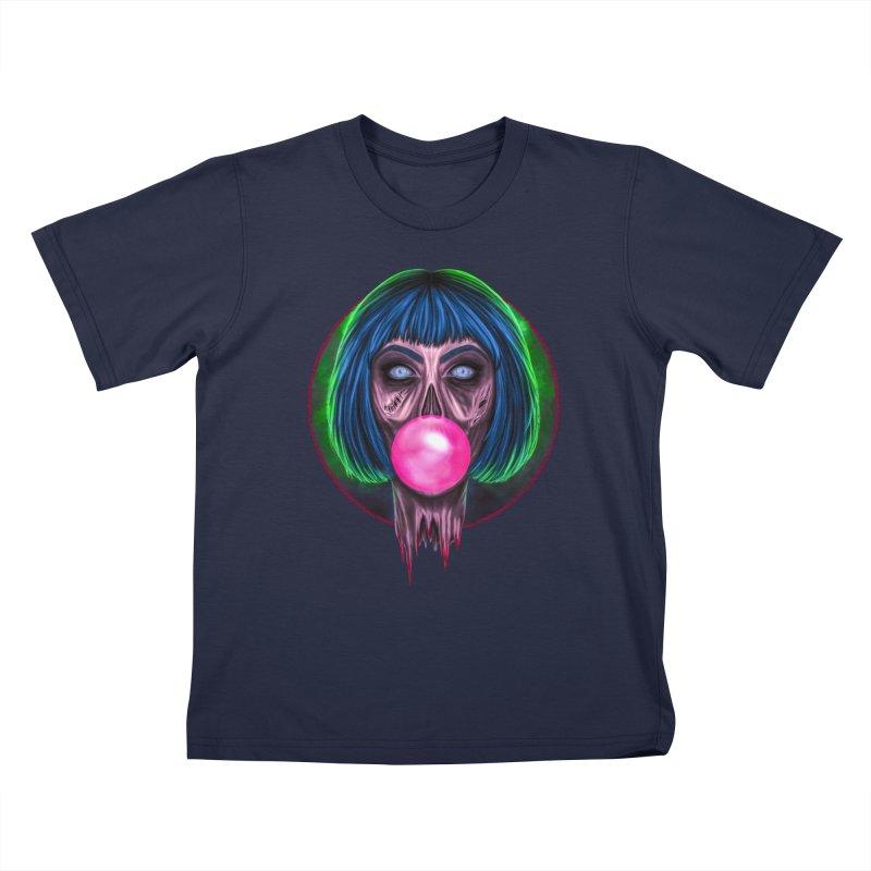 Zombie Bubblegum Kids T-Shirt by The Glitchway