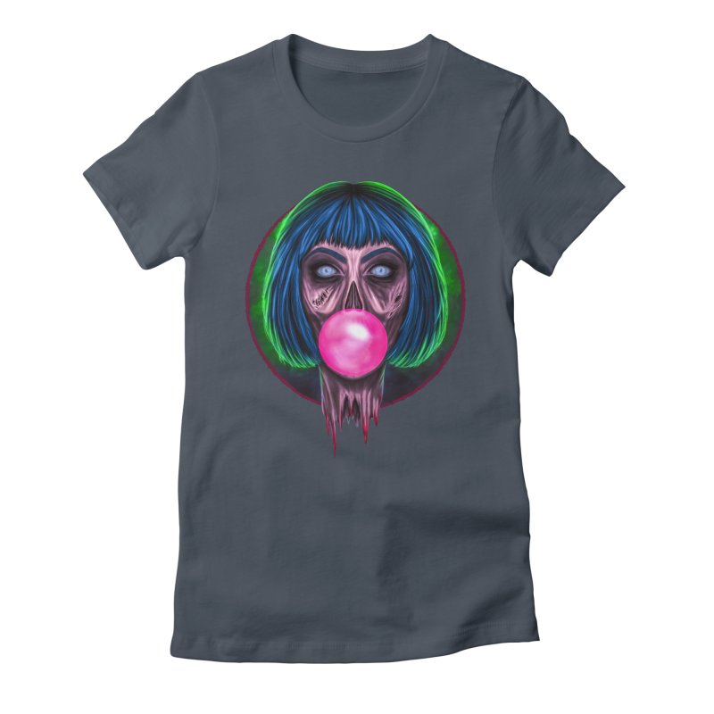Zombie Bubblegum Women's Fitted T-Shirt by The Glitchway
