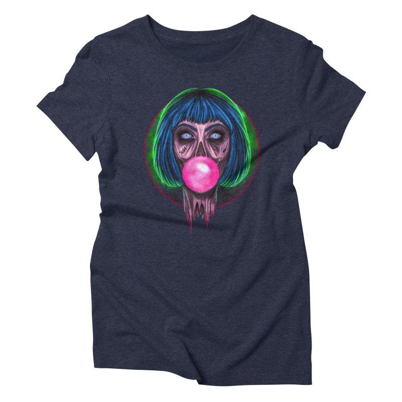 Zombie Bubblegum Women's Triblend T-Shirt by The Glitchway
