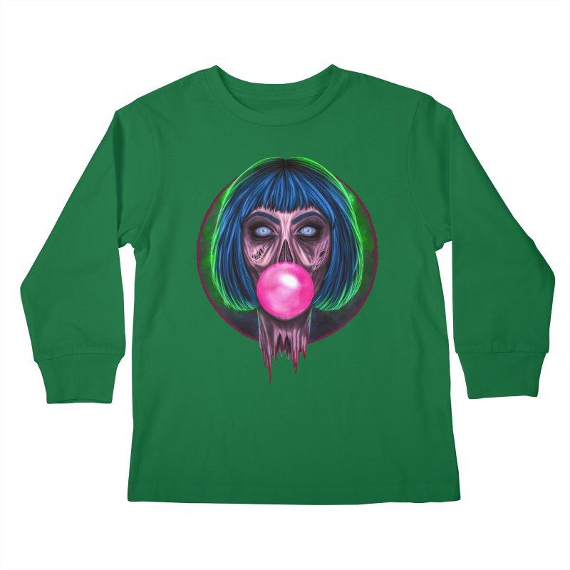 Zombie Bubblegum Kids Longsleeve T-Shirt by The Glitchway