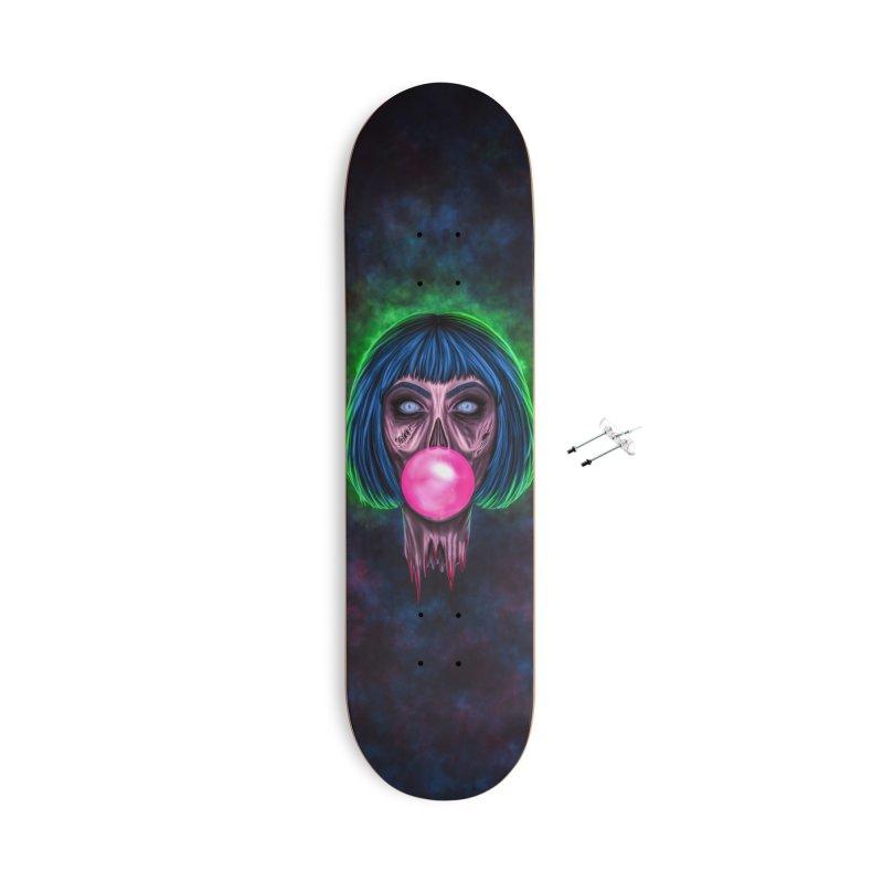 Zombie Bubblegum Accessories Skateboard by The Glitchway